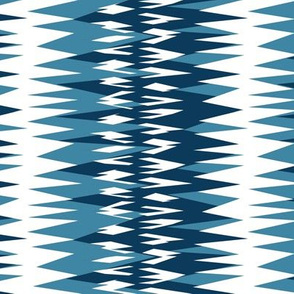 zigzag in blue and white