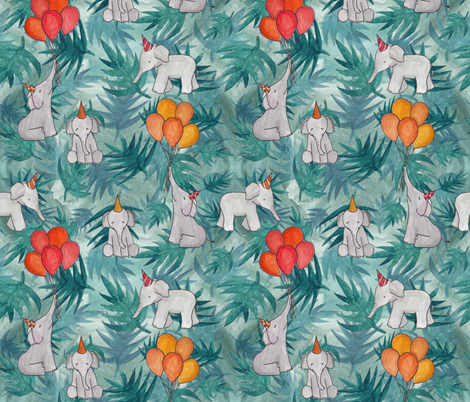 Party Elephants fabric by chipper_and_perk on Spoonflower - custom fabric