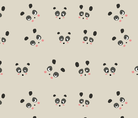 Panda fabric by tezukuri_ on Spoonflower - custom fabric