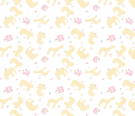 Animal Crackers fabric by della_vita on Spoonflower - custom fabric