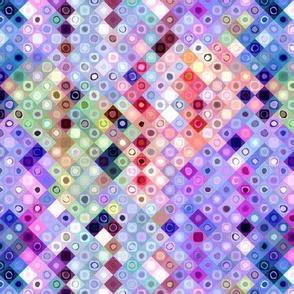 mini tiles diagonal chunk pink mauve coral