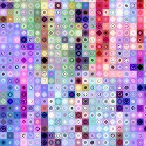 mini tiles mosaic chunk pink mauve coral