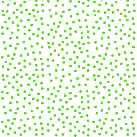 Twinkling Lime Green Dots on Snowy White - Medium Scale fabric by rhondadesigns on Spoonflower - custom fabric