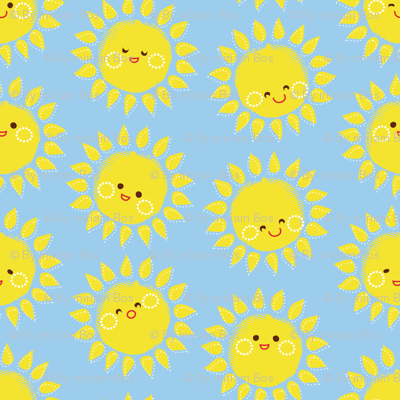 Sunny Suns in Blue