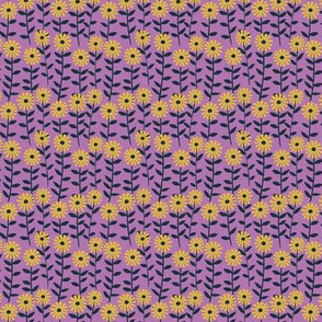 Kitty Cat  - flowers in purple