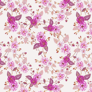 Briar Roses, Purple Palest Pink Beige