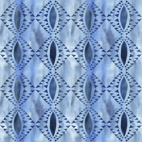 tribal triangle _3 chambray  fabric by schatzibrown on Spoonflower - custom fabric