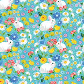 Spring - bunnies and chicks
