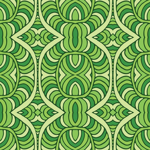 Ethnic pattern in green tones