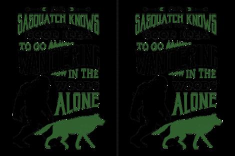 Bigfoot and Wolf Companion 27x36 fabric by mariafaithgarcia on Spoonflower - custom fabric