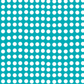 Wavy Dots in Surf Green