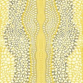 ZebraDeer in Mustard & Charcoal (light)