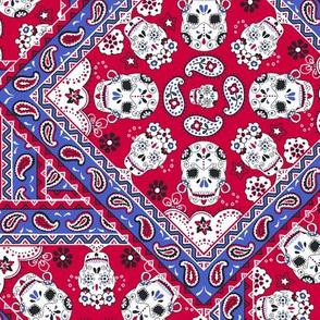 Skull-Bandana-Mexican-red-blue