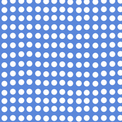 Wavy Dots in Racing Blue