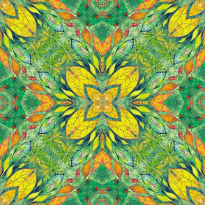 Boho Indian seamless pattern