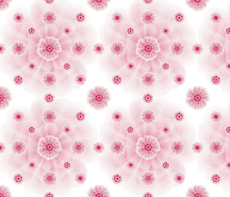 Pansy flowers fabric by _la_corneja on Spoonflower - custom fabric