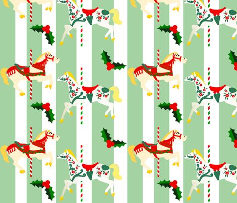 Christmas Carousel 09 fabric by lowa84 on Spoonflower - custom fabric