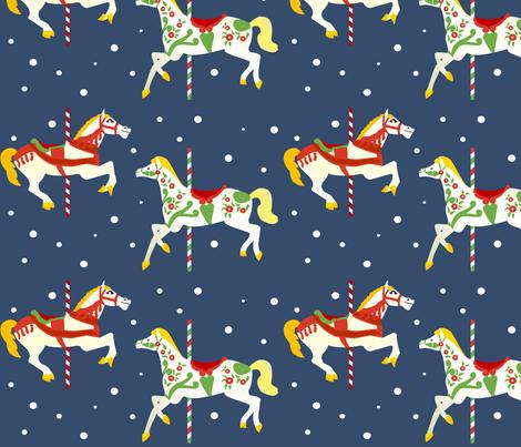 Christmas Carousel 10 fabric by lowa84 on Spoonflower - custom fabric