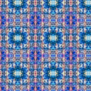 Floral crayon navy pattern