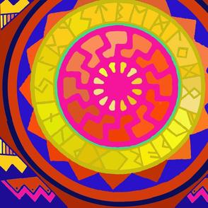 Viking  Sun Wheel with Runes