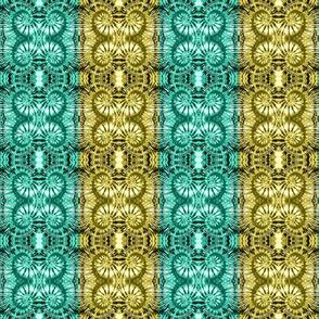 Teal & Gold Spiral Stripes