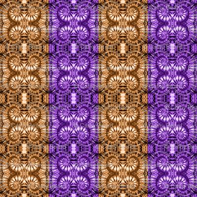 Bronze & Purple Spiral Stripes