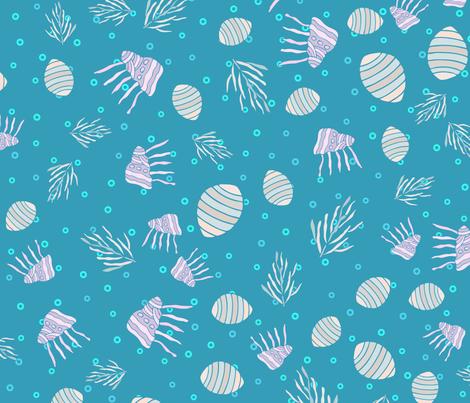 Sea life pattern1 fabric by tashakon on Spoonflower - custom fabric