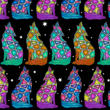 Jewel of the Night fabric by jennablackzen on Spoonflower - custom fabric