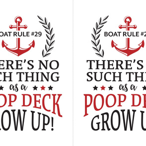 Funny Poop Deck Saying 27x36