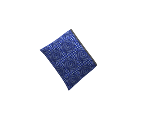 HCF28 - Large - Hurricane on a Checkered Field of Black and Blue