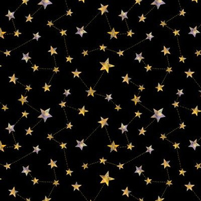 watercolor constellation stars