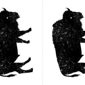 27x36 Bison Silhouette