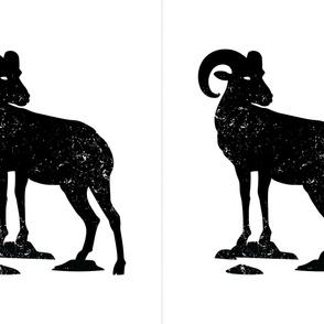 27x36 Bighorn Ram Silhouette