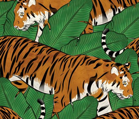 Jungle Cats fabric by wellfleetdesigns on Spoonflower - custom fabric