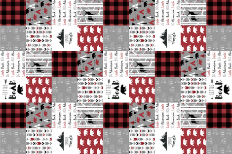 "3"" block the woodsman cheater quilt (rotated 90) fabric by buckwoodsdesignco on Spoonflower - custom fabric"