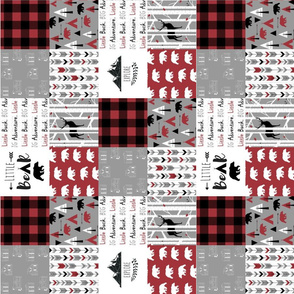"3"" block the woodsman cheater quilt (rotated 90)"