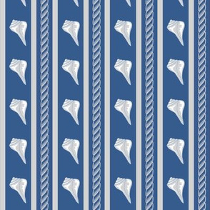 Rope Shell Stripe Navy Gray Small