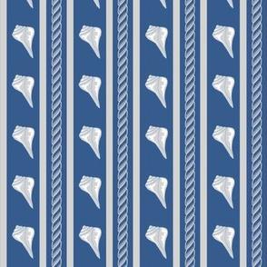 Rope Shell Stripe Navy Gray Small