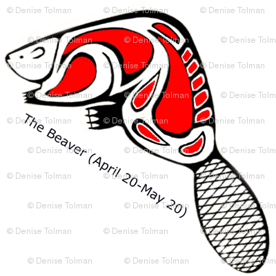 Native American Zodiac Beaver (April 20-May20)