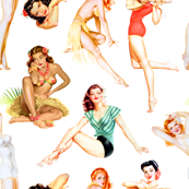 Vintage Tropical Hawaiian Pinup Girls