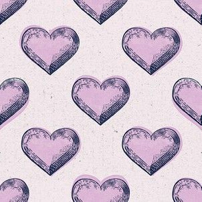 heart print light pink