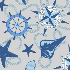 Nautical Navy and Gray Large