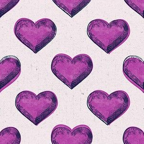 heart print dark pink