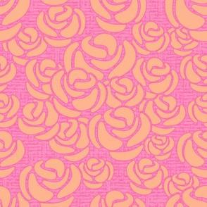 Peachy Roses Medium