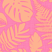 Tiki Leaf Pink Large
