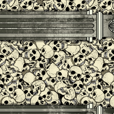 Skull Pile Pillars fabric by jadegordon on Spoonflower - custom fabric