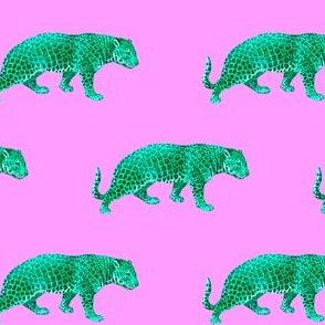 Vintage Cheetahs in Orchid + Jade