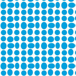 Pebbledots in Surf Blue (inverted)