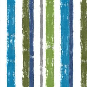 Brushstroke Stripe, Marine