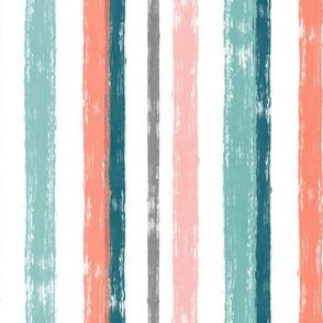 Brushstroke Stripe, Apricot